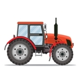 Flat tractor on white background vector image vector image
