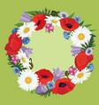 floral pattern flower bouquet frame vector image