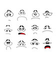 funny cartoon eyes set vector image vector image