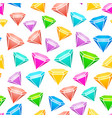 gem stones seamless pattern vector image