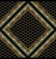 gold rhombus 3d greek key meander frames seamless vector image vector image