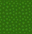 green clover seamless pattern shamrock vector image vector image