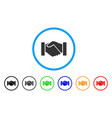 handshake rounded icon vector image vector image