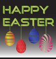 happy easter with various color hanging eggs eps10 vector image vector image