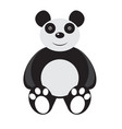 isolated stuffed panda toy vector image vector image