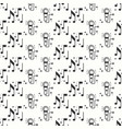 karaoke seamless pattern microphone and notes vector image vector image