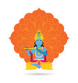 krishna hindu god or deity vector image