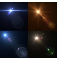 lens flares Set collection vector image vector image