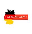 logo german alps vector image vector image