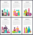 make up and perfume collection vector image vector image