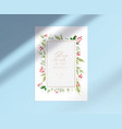 merry christmas card with glory to god vector image
