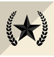 Military star design vector image vector image