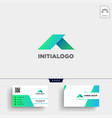 minimal a initial logo template and business card vector image vector image