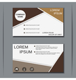 modern visiting card template vector image vector image