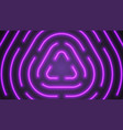neon violet lighting lines vector image