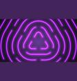 neon violet lighting lines vector image vector image