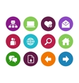 Network circle icons on white background vector image