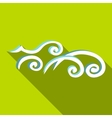 Ocean wave icon flat style vector image vector image