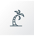 palm icon line symbol premium quality isolated vector image