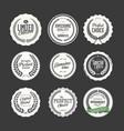 premium quality retro badge collection vector image vector image