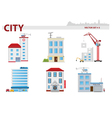 Public building set 3 vector