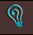 question mark in bulb vector image vector image