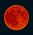 red blood full moon on black background vector image vector image