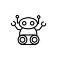 robot fiction artificial machine technology vector image