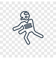 running with the ball concept linear icon vector image