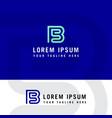 sb initial logo b and s initial monogram logotype vector image vector image