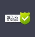 secure connection icon isolated on white vector image vector image