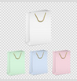 set empty shopping paper bags vector image