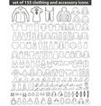 Set of Line Clothing Icons vector image vector image
