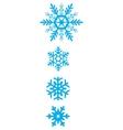 set simple varied geometric snowflakes vector image