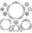 Set vintage frames vector image vector image