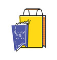 shopping bag with commercial tag hanging vector image