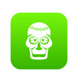 skull icon digital green vector image vector image