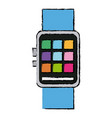 smart watch wearable technology app icon vector image