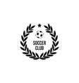 soccer club icon stamp with round wreath and vector image vector image