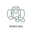 sports bag line icon linear concept vector image vector image