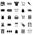 supermarket icon set vector image vector image