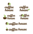 symbol of coffe house vector image