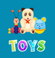 toys poster with items set vector image vector image