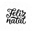 vintage feliz natal typographic poster vector image