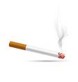 smoldering cigarette on a white background vector image