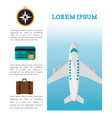 travel brochure tourism vacation vector image