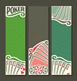 vertical banner for poker game vector image