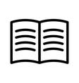 Black book icon vector image