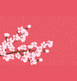 abstract floral sakura flower japanese natural vector image vector image