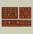 africa tribal art ethnic background set isolated vector image vector image